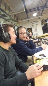Negaunee Miners Girls Basketball Head Coach Brandon Sager after a nice win @ Iron Mountain.