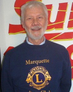 Joe Baczkowski with the Marquette Lions Club