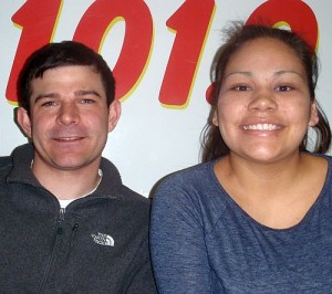 Larry Chroschere and Alicia Paquin of the NMU Native American Student Association.