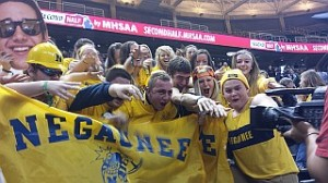 Negaunee Miners Boys Basketball vs Detroit Consortium 03/20/14