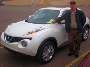 Mark Sundberg from Riverside Marquette with the Nissan Juke.