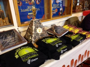 Everybody's Goal:  A trophy, a plaque, a t-shirt, and maybe even the all-tourney sweatshirt!