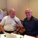 Tim Kramer (left) is a representative of the Symetra Tour and met up with Major Discount to discuss the event!