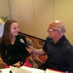 Who does an interview better than Major Discount?  This time he caught up with Carly Werwie (left) of the tour!