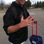 Olympian Nick Baumgartner showing off his Olympic ring