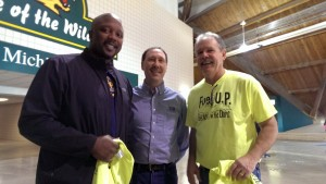 Ron Lauren President of SIR FCU between Tony Fischer (left) & Gordon (right) the organizer of the event.