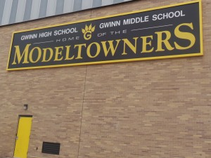 Gwinn School 042414 Model Towner Sign