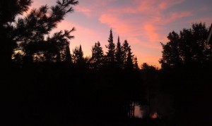 sunrise morning woods lake Ishpeming Michigan