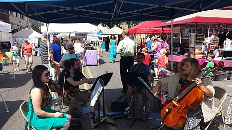 Live music at the 13th Annual Blueberry Festival in Marquette.