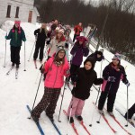 Gwinn Girls on the Move Go Cross Country Skiing 2014