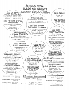 Dare 2B Great athletic opportunities at the Gwinn Area Community Schools.