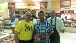 The winner of the his/her steaks radio contest:  Rick O'Donald of Marquette!