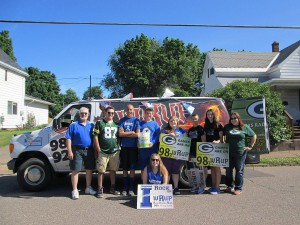 WRUP van Great Lakes Radio, Inc. Ishpeming Michigan parade Fourth of July