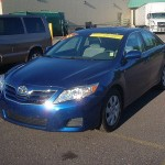 The 2011 Toyota Camry LE at Riverside Marquette.