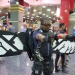 I'm not sure how this Falcon cosplayer managed to get around with those wings - they didn't retract easily.