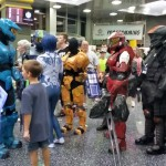 I snapped this group of Halo cosplayers while they were distracted.