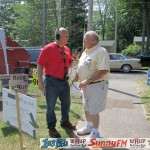 Major Discount chatted with Pete Larue, Marquette Township Board Member.