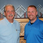 Gordy Mielke and Casey Ford are thrilled to represent the Modeltowners and the good things going on in Gwinn