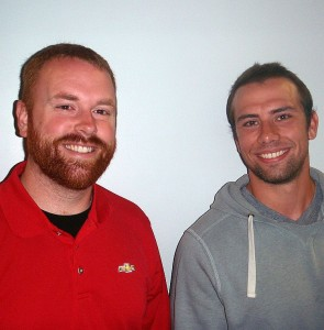 GLR Gwinn Play-By-Play Announcer Casey Ford and Gwinn Football Asst. Coach Dylan Jurasin.