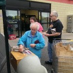 People were lining up to try some DElicous brats at Super One foods in Marquette & Negaunee
