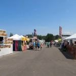 The midway at the Marquette County Fair