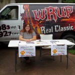 Nancy from Great Lakes Radio happily chatted with many of the Fall Fest participants