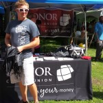 Fifty local businesses including Honor Credit Union were set up at Fall Fest