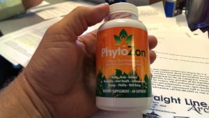 Jeff Santti shows off PhytoZon on the Shopping Show