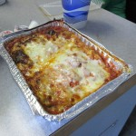 Delicious lasagna from Rodney's Pizza in Gwinn