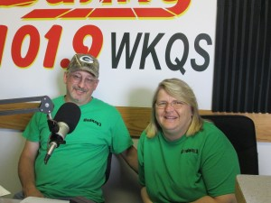 Rodney's Pizza Owners Joe and Mary St. Andre visit the Shopping Show