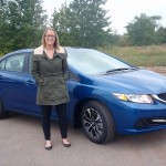 Lauren Prusi of Riverside Marquette with a 2014 Honda Civic.