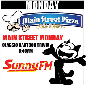 Main Street Monday Classic Cartoon Trivia on Sunny 101.9 WKQSFM