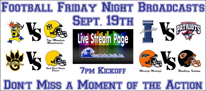Tune In This Friday for Great Lakes Radio Friday Football Broadcasts