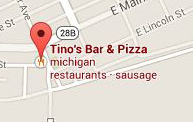 Find Tinos Bar and Pizza with Google Maps