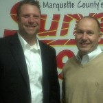Eric Froberg and Doug Anderson with Marquette Junior Hockey.