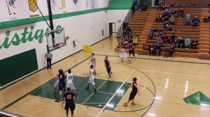 Negaunee Miners Boys Basketball vs Manistique Emeralds on Sunny.FM 12/30/14