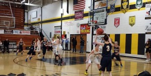 Negaunee Miners Girls Basketball vs Gwinn Modeltowners on Sunny.FM 01/15/15