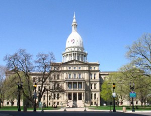 The Michigan Capitol in Lansing.