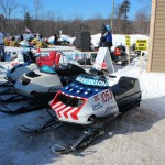 2015 Antique and Vintage Snowmobile Show at Crossroads Restaurant Marquette-001