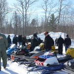 2015 Antique and Vintage Snowmobile Show at Crossroads Restaurant Marquette-007