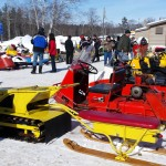 2015 Antique and Vintage Snowmobile Show at Crossroads Restaurant Marquette-009