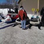 2015 Antique and Vintage Snowmobile Show at Crossroads Restaurant Marquette-012