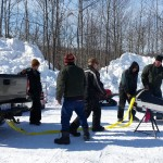 2015 Antique and Vintage Snowmobile Show at Crossroads Restaurant Marquette-022