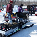 2015 Antique and Vintage Snowmobile Show at Crossroads Restaurant Marquette-024