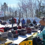 2015 Antique and Vintage Snowmobile Show at Crossroads Restaurant Marquette-030