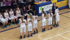 Negaunee Miners Girls Basketball Team (27) VS Marquette Redettes (56) on Sunny.FM 02/24/15