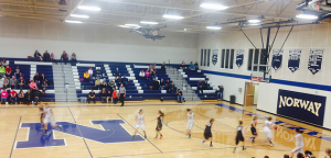 Negaunee Miners Girls Basketball vs Norway Knights on Sunny.FM 02/06/15
