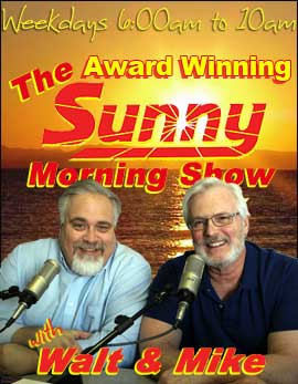 Walt and Mike, the new morning show on Sunny 101.9 WKQS FM