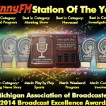 101.9 SunnyFM won 10 awards from the Michigan Association of Broadcasters!