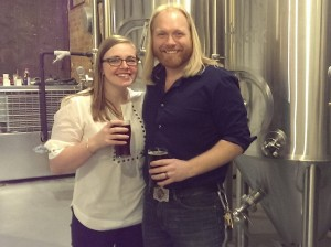 Cori and I in from of the Fermenters